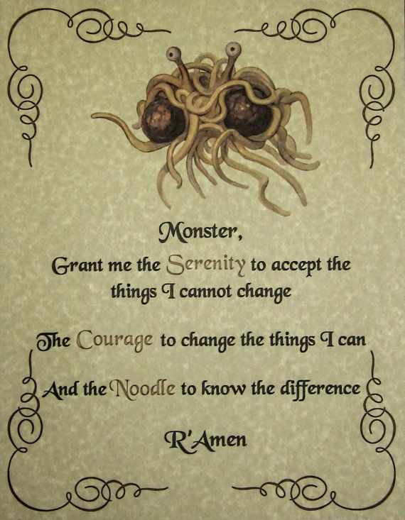 Pastafarianism- A Healthy Alternative?